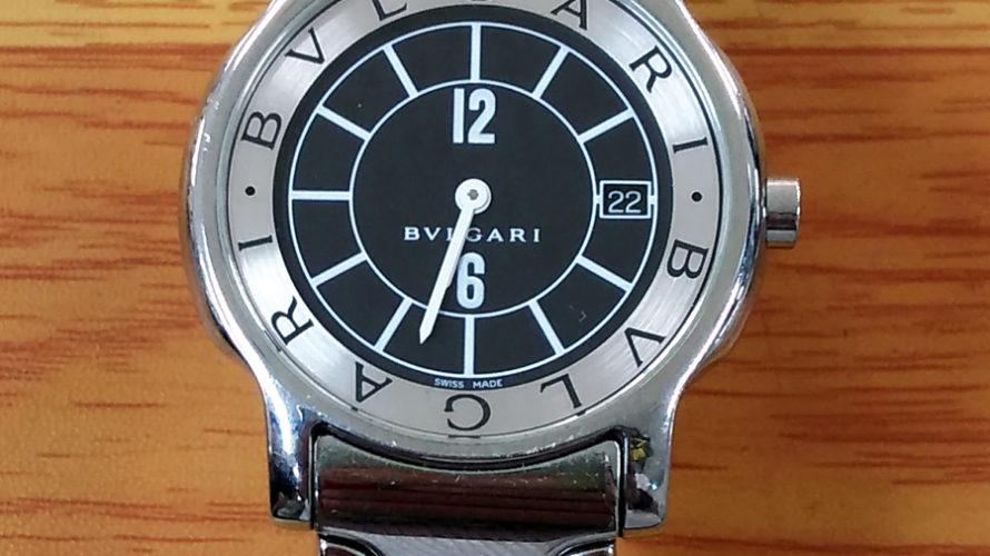 豊中 庄内 時計電池交換 ブルガリ VLGARI 時計修理 分解掃除 オーバーホール 靴修理と合鍵のお店プラスワン