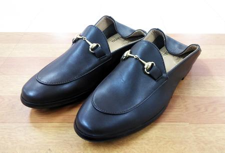 豊中 庄内 靴修理 ナノユニバース ビットスリップオン ビブラム ハーフソール