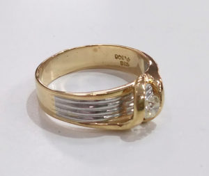 k18プラチナダイヤリング指輪サイズ直し1-1