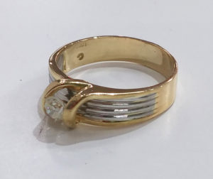 k18プラチナダイヤリング指輪サイズ直し1-2