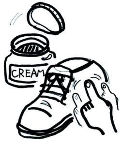靴磨き豊中
