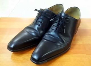 紳士靴のカカトの修理