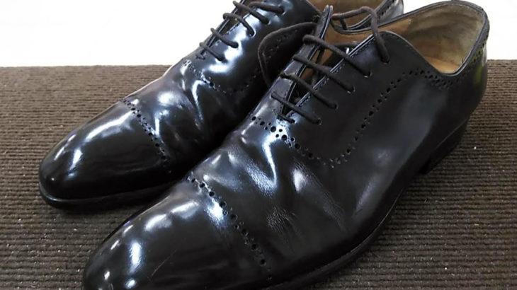 安い!早い!靴修理紳士靴のカカトの修理ハーフソールMICHELINミシュラン