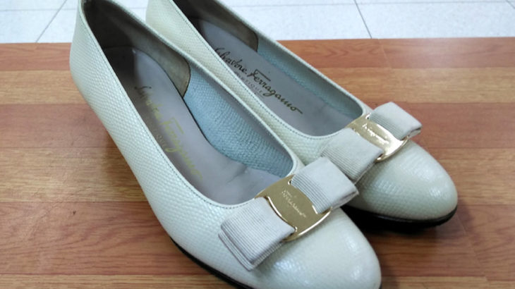 フェラガモのパンプスにハーフソール&カカトの修理!お気に入りの靴が長持ち!滑り止め!ソールの保護!