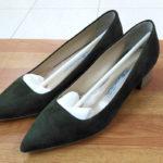 ご存じですか?お気に入りの靴やカバンは修理出来ます。ペリーコパンプスのビブラムハーフソール 安くて早い靴修理合鍵作製時計の電池交換のお店プラスワン
