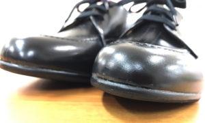 新品の靴に滑り止め&保護のハーフソール