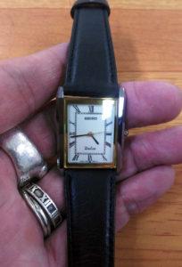 セイコーの時計の電池交換オーバーホール