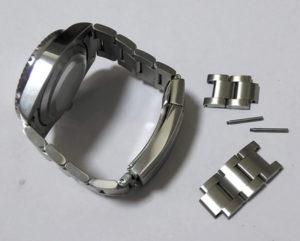 腕時計のバンドベルトのサイズ調整