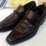 フェラガモFERRAGAMO紳士靴の半張りハーフソール滑り止め