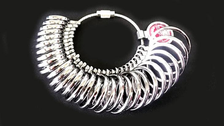 ジュエリー修理の道具 指輪 リング ゲージ ピンキーリング RingGauge 指輪 サイズ棒 RingSticks 靴修理合鍵作製時計の電池交換のお店