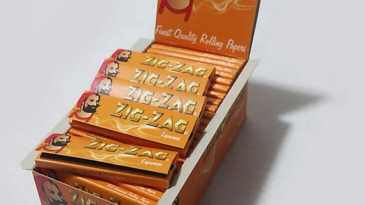 ZIG-ZAG ジグザグ ZIGZAG 手巻き タバコ ペーパー ZIG-ZAG ジグザグ リコリス ペーパー 50個セット