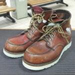 大好評!千葉県柏市柏駅でレッドウイング修理オールソールなら柏マルイ3F 靴修理 時計電池交換 合鍵作成のお店プラスワン