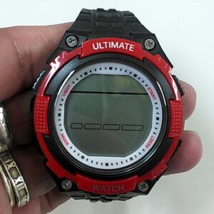 デジタル時計の電池交換