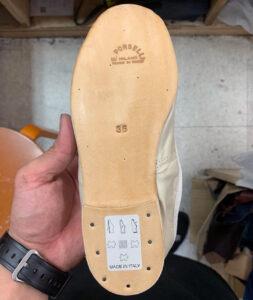 ポルセリ バレエシューズ ビブラム Vibram ハーフソール 靴修理