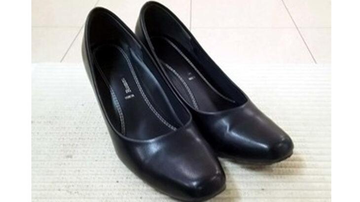婦人靴のカカトの修理 ビブラムハーフソール