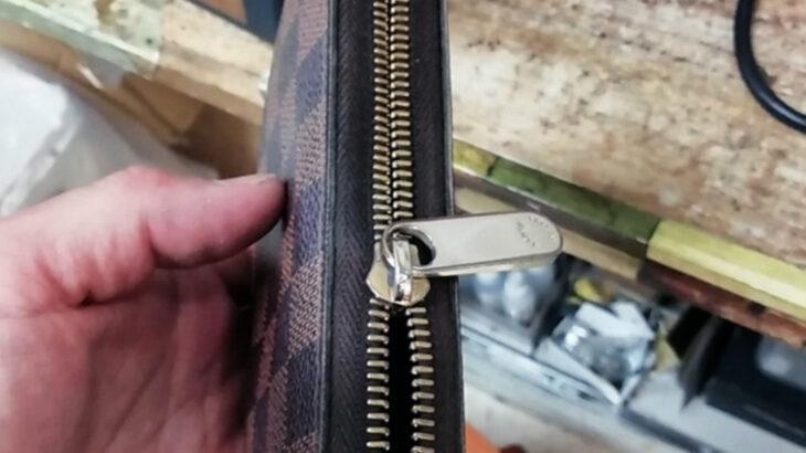 LOUIS VUITTON財布のスライダー交換