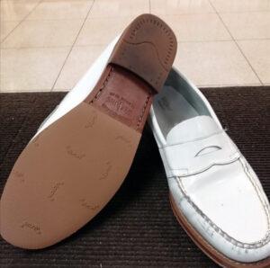 ウィージャンズのペニーローファー 靴修理