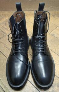 マルセルレースアップブーツ靴修理ハーフソール